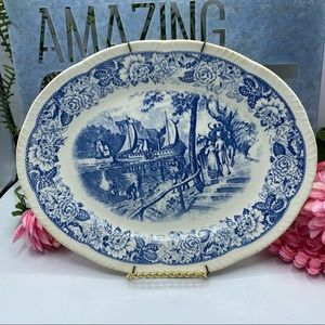 Historical America First Steamboat 1807 Plate